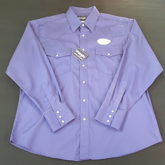 588119ff Wrangler Shirts   Western Pearl Snap Long Sleeve Mens Shirt   Poshmark